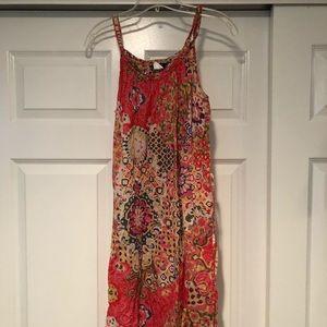 JCrew floral dress with tie